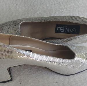 Vaneli shoes silver - size 7